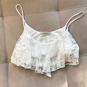 Easel lace crop top