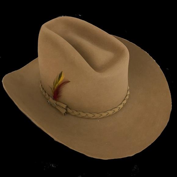 Vintage New 4 X Stetson Beaver Cowboy Hat 7 1 2 18ddd5e3ee12