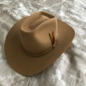ccc1bc7450f Stetson Accessories - Vintage New 4 X Stetson Beaver Cowboy Hat 7 1 2