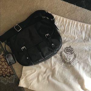 Lauren Ralph Lauren Black Alligator saddle bag