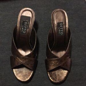 Brand New Bronze Sandals