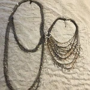 Two pretty necklaces.