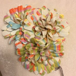 Beautiful multi color fabric flower pin.NWT, used for sale