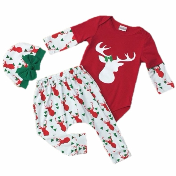 4a3861f932d0f Moxie Girl Matching Sets   Baby Girl Reindeer Christmas Outfit W Hat ...