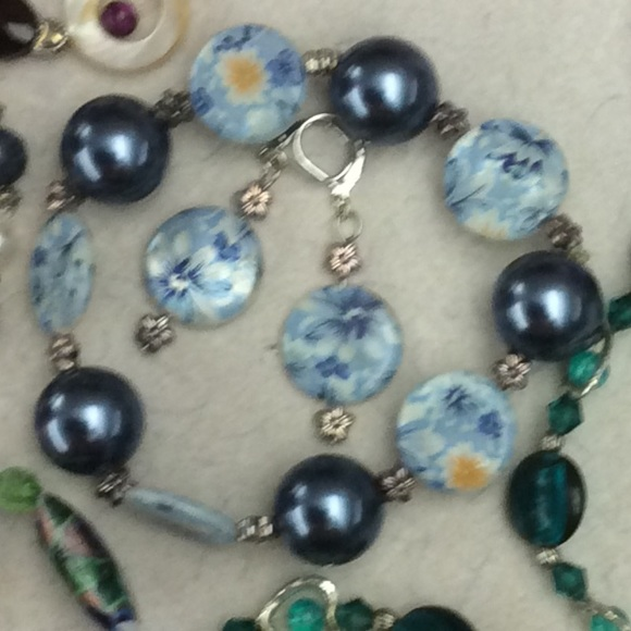 45 off just for fun jewelry blue floral bead bracelet for Jewelry just for fun