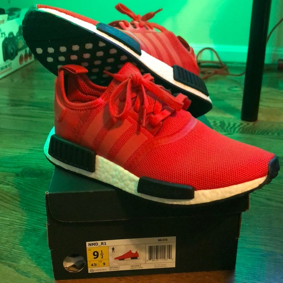 b96f12456 Adidas NMD Clear red DEADSTOCK