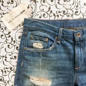 Rag & Bone Distressed Boyfriend Jeans