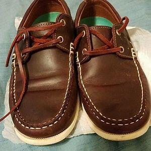 Shoes - Very dark burgandee lightly worn loafers