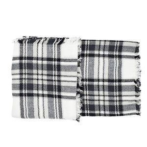 Black And White Plaid Blanket.Black And White Ultra Plush Plaid Blanket Scarf Boutique