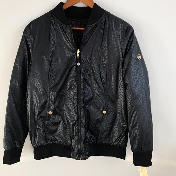 Jacket Kors Nwt Bomber Michael Reversible X0O8nwkP