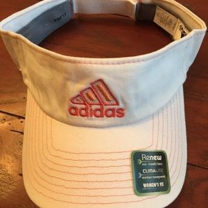 Adidas white visor