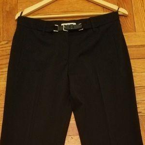 Prada elegant black pants with leather buckle