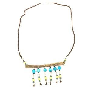 Jewelry - Bohemian chic drop-plate dangle necklace
