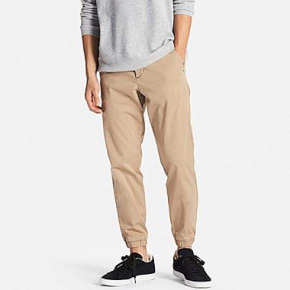 01005be36ece1 NWOT UNIQLO Men's Khaki Jogger Pants Sz Medium