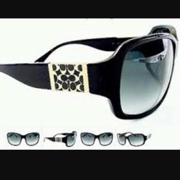 6e08bb4b422a real coach nina s494 sunglasses black a2328 920e7; real coach nina black  sunglasses 56c24 cbc1c