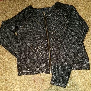 Sweaters - Women's Gold & Black Sweater