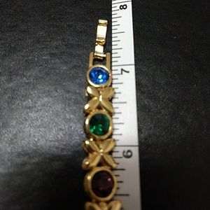 Jewelry - *Sale* Gold tone multi colored stone bracelet