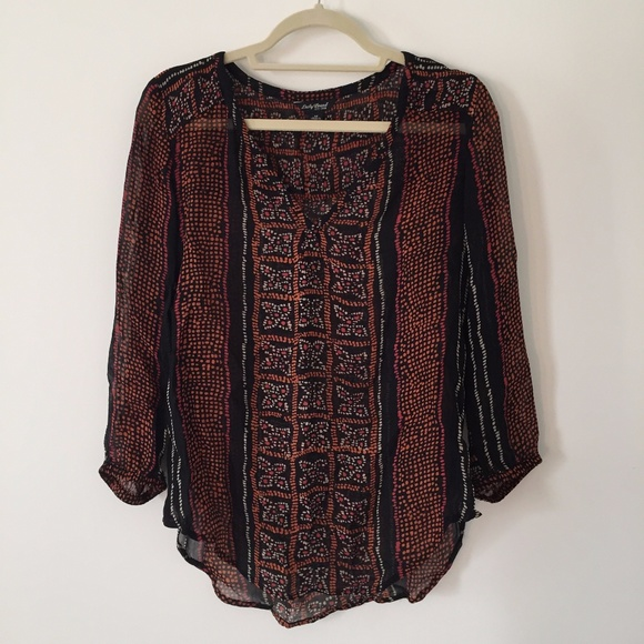 Lucky Brand Tops - Lucky Patterned Blouse