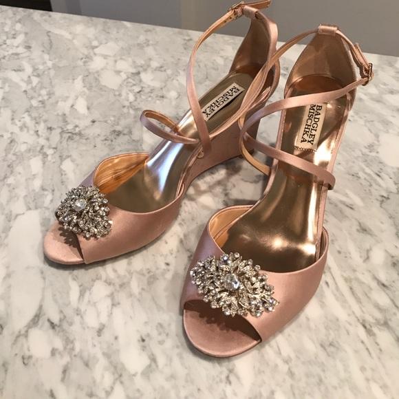 21a3316ce93 Badgley Mischka Shoes - Badgley Mischka Abigail Wedding Wedge Sandal - 8.5