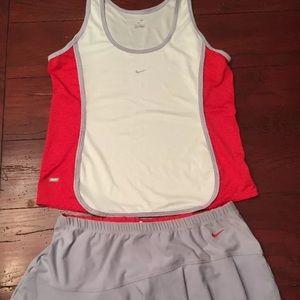 NWT Nike tennis skirt and tank set
