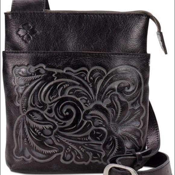 cc28b6cc71 Italian Leather Tooled Stipes Sling. M 5a1b379e98182958b5082b07