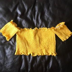 Yellow crop top Sz. S