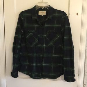 Zara Green Plaid Flannel