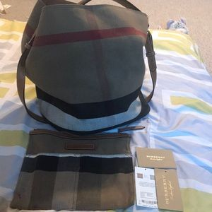 Authentic cloth Burberry handbag