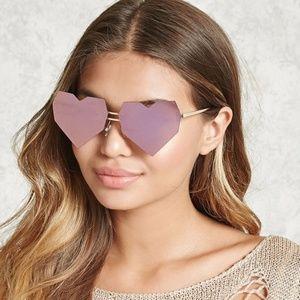 Crush Sunglasses In Mirrored Pink Gold