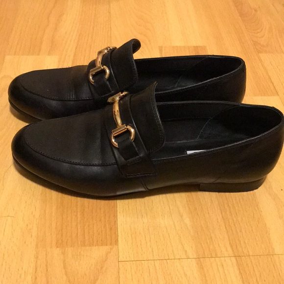 6dd694ad2eb Steve Madden Kerry Loafers - Black Leather. M 5a1d5ba52ba50ac72710c89b