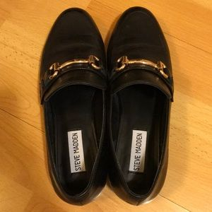 267236ab365 Steve Madden Shoes - Steve Madden Kerry Loafers - Black Leather
