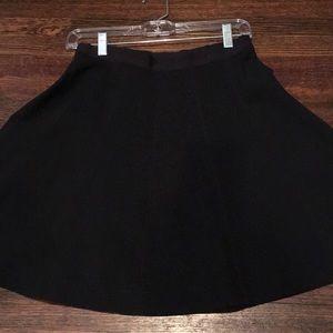 Black theory polyester skirt