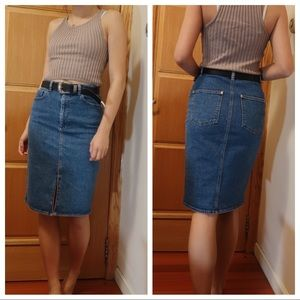Size 4-Asos Denim Midi Skirt
