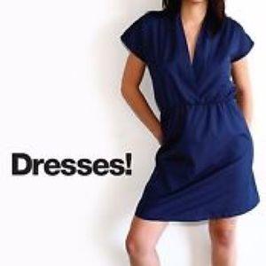 NEW American Apparel poplin cross-front dress