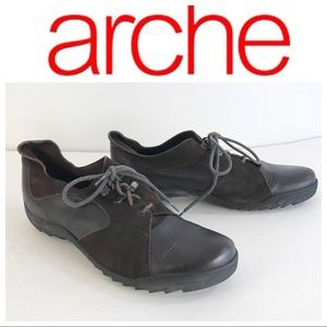 ARCHE BROWN OXFORD comfort SHOES 40 France 9.5 10