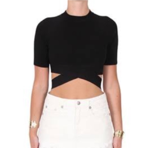 7ca36a42eb Alexander Wang Tops - T by Alexander Wang Criss Cross Crop Top