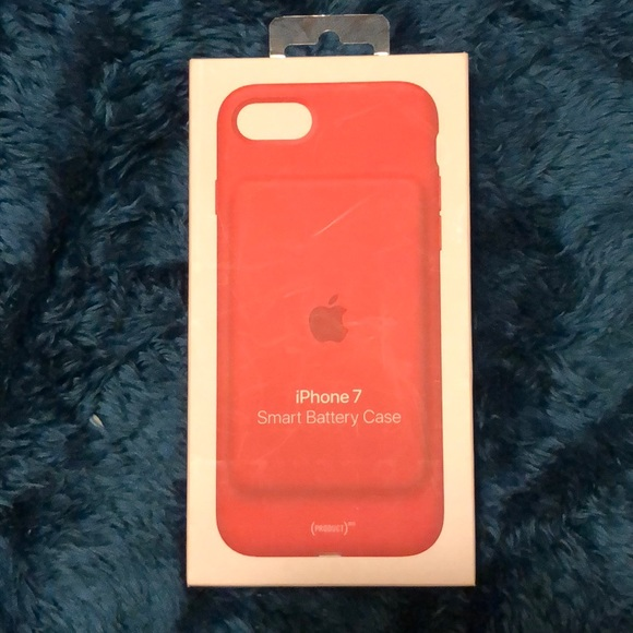 new product cf75c 42a3c Red IPhone 7 Smart Battery Case