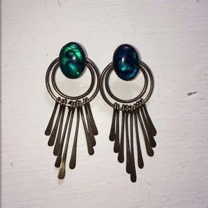 Jewelry - Sterling Silver Geometric Southwestern Earrings