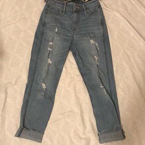 Capris Hollister Boyfriend high-rise Jeans
