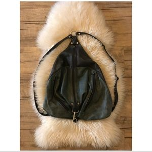 🐰VTG Leather Modern Color-block Pack//