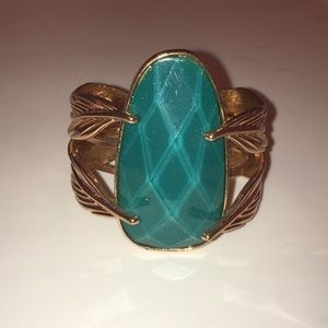 Jewelry - Costume Metal Cuff with Large Faux Stone