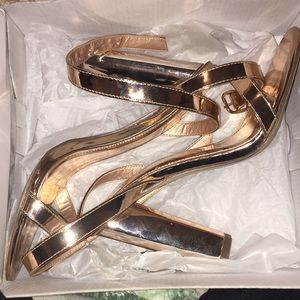 Missguided Rose Gold Heels
