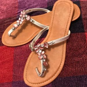 Crystal sandals from Lane Bryant