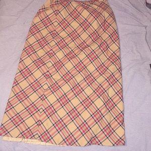Women's Plaid Long Skirt