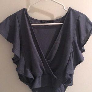Purple/gray blouse