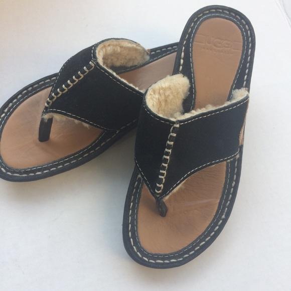 5e739ee4e77 UGG Layback Thong Sandal Suede Sheepskin Women