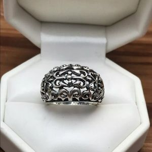 Jewelry - Sterling Silver Solid Ring Size 7.25