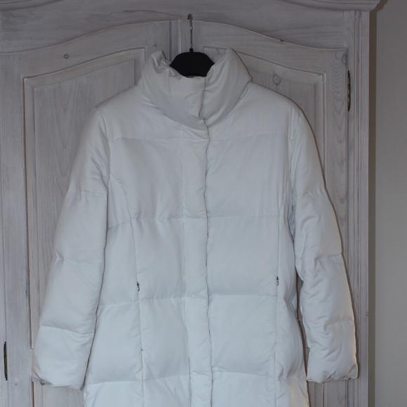 c1ebc8d5e Calvin Klein Women's Full Length White Down Coat