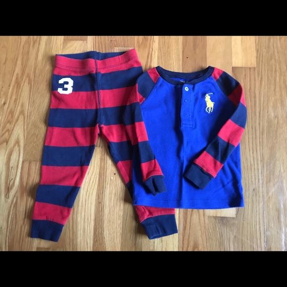 1dda32d58222 Polo by Ralph Lauren Pajamas   Ralph Lauren Polo Boys Pajama Set ...