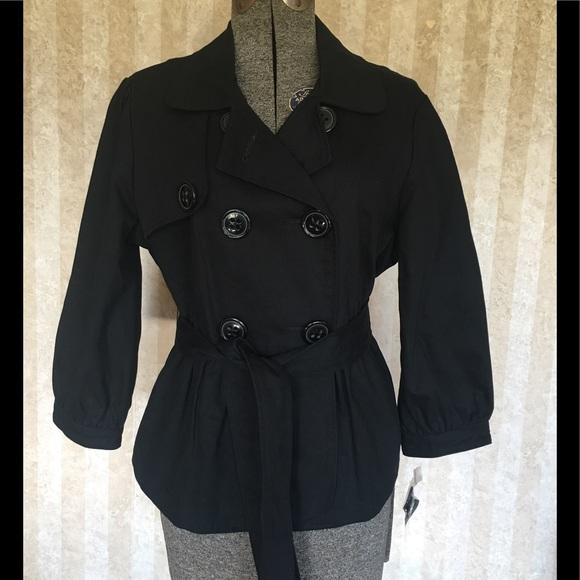 Apt. 9 Jackets & Blazers - Apt.9 black belted jacket